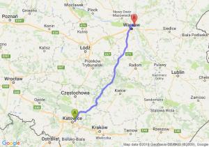 Trasa Sosnowiec - Ząbki
