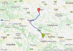 Trasa Racibórz - Ostrów Wielkopolski