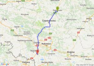 Trasa Radomsko - Żory