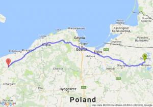Ryn (warmińsko-mazurskie) - Płoty (zachodniopomorskie)