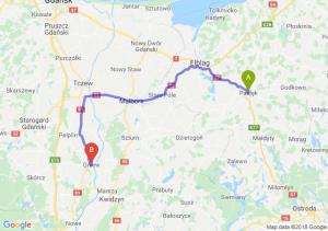 Trasa Pasłęk - Gniew