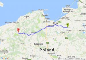 Dobre Miasto (warmińsko-mazurskie) - Barwice (zachodniopomorskie)
