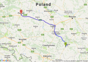 Trasa Chęciny - Poznań