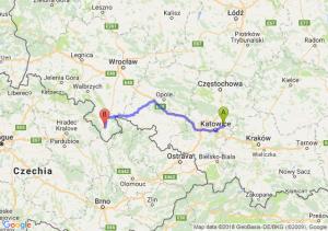 Trasa Dąbrowa Górnicza - Bystrzyca Kłodzka