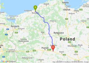 Trasa Koszalin - Września