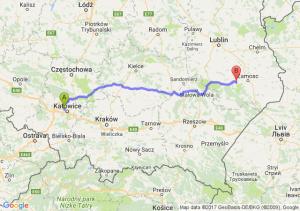 Trasa Chorzów - Szczebrzeszyn