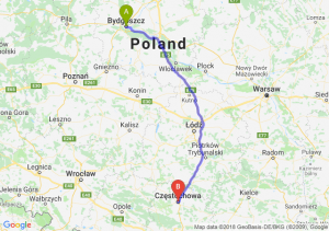 Trasa Bydgoszcz - Częstochowa