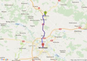 Trasa Trzebnica - Wrocław
