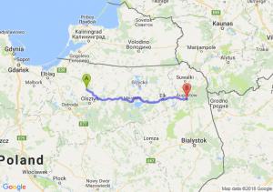 Trasa Dobre Miasto - Augustów