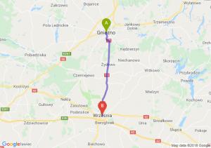 Trasa Gniezno - Września