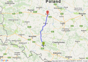 Trasa Opole - Konin