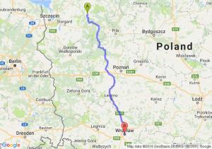 Drawsko Pomorskie (zachodniopomorskie) - Wrocław (dolnośląskie)