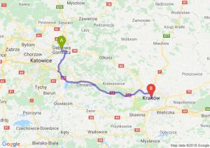 Trasa Dąbrowa Górnicza - Kraków