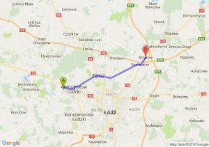 Trasa Aleksandrów Łódzki - Stryków