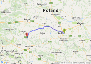 Trasa Brzeziny - Rawicz