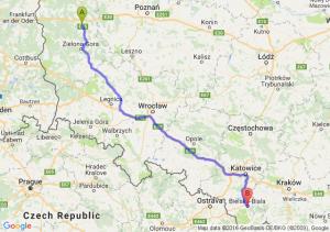 Świebodzin (lubuskie) - Bielsko-Biała (śląskie)