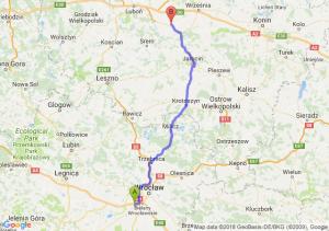Trasa Biskupice Podgórne - Środa Wielkopolska