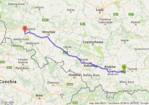 Trasa Brzesko - Złotoryja