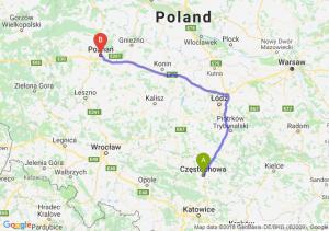 Trasa Częstochowa - Poznań