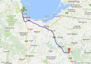 Trasa Gdynia - Olsztynek