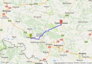 Trasa Krapkowice - Częstochowa
