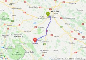 Trasa Biskupice Podgórne - Bielawa