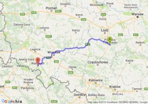 Trasa Piotrków Trybunalski - Wałbrzych