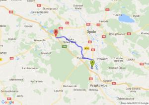 Trasa Dąbrówka Górna - Prądy