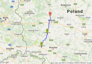 Legnica (dolnośląskie) - Leszno (wielkopolskie) - Oborniki (wielkopolskie)