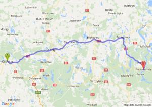 Ostróda (warmińsko-mazurskie) - Ruciane-Nida (warmińsko-mazurskie)