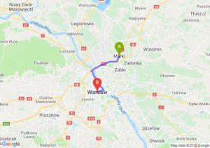 Trasa Marki - Warszawa
