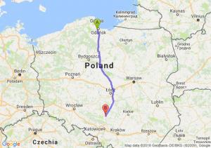 Trasa Straszyn - Częstochowa