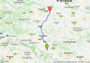 Trasa Nysa - Września