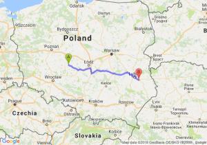 Trasa Kalisz - Piaski
