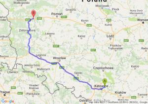 Trasa Dąbrowa Górnicza - Trzciel