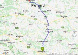 Trasa Sosnowiec - Białe Błota