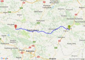 Trasa Kielce - Olesno