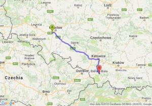 Trasa Biskupice Podgórne - Bielsko-Biała