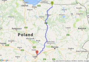 Trasa Bartoszyce - Stryków