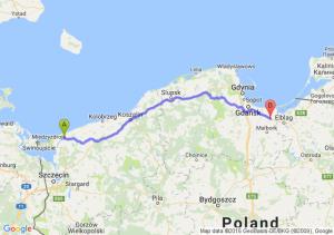Kamień Pomorski (zachodniopomorskie) - Nowy Dwór Gdański (pomorskie)