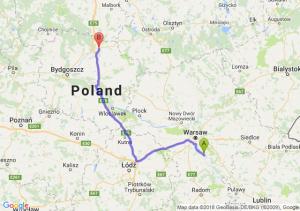 Trasa Góra Kalwaria - Grudziądz