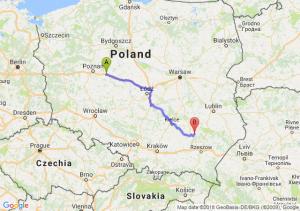 Trasa Września - Tarnobrzeg