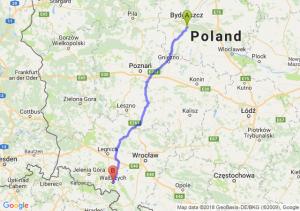 Trasa Brzoza (koło Bydgoszczy) - Wałbrzych