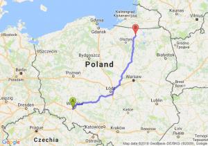 Trasa Biskupice Podgórne - Reszel
