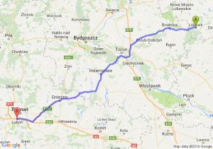 Lidzbark (warmińsko-mazurskie) - Luboń (wielkopolskie)