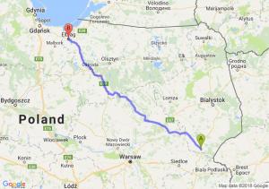 Trasa Siemiatycze - Elbląg