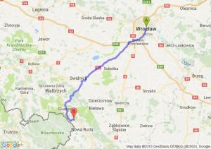 Wrocław (dolnośląskie) - Świerki Dolne (dolnośląskie)