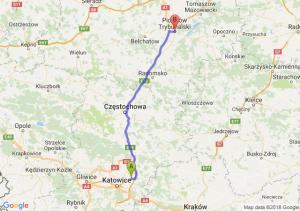 Trasa Dąbrowa Górnicza - Piotrków Trybunalski