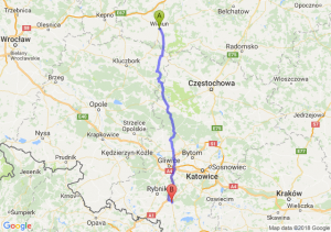 Trasa Wieluń - Żory