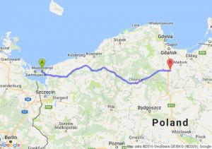 Międzyzdroje (zachodniopomorskie) - Pelplin (pomorskie)